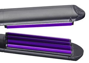 The BaByliss 2165BU Pro Crimper 210 has tourmaline-ceramic plates for a smooth, shiny finish