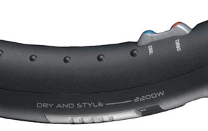The BaByliss 5538U Turbo Power 2200W Hair Dryer has 3 heat settings and 2 speed settings
