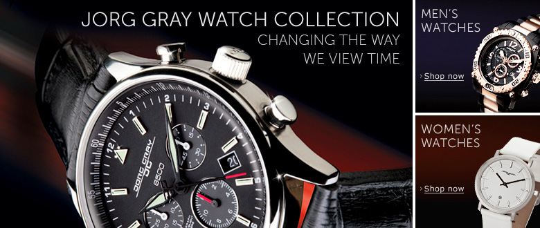 Jorg Gray Watch Collection… changing the way we view time