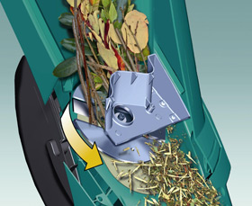 The Bosch AXT 2200 Rapid features laser cut blades that give 7 times more cutting power than conventional blade shredders