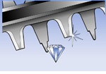 The AHS 48 LI features diamond ground 15mm tooth spaced blades