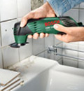Use TheTC Riff segment saw blade to cut through tile or remove grout