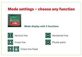 Mode settings of the PCL 20