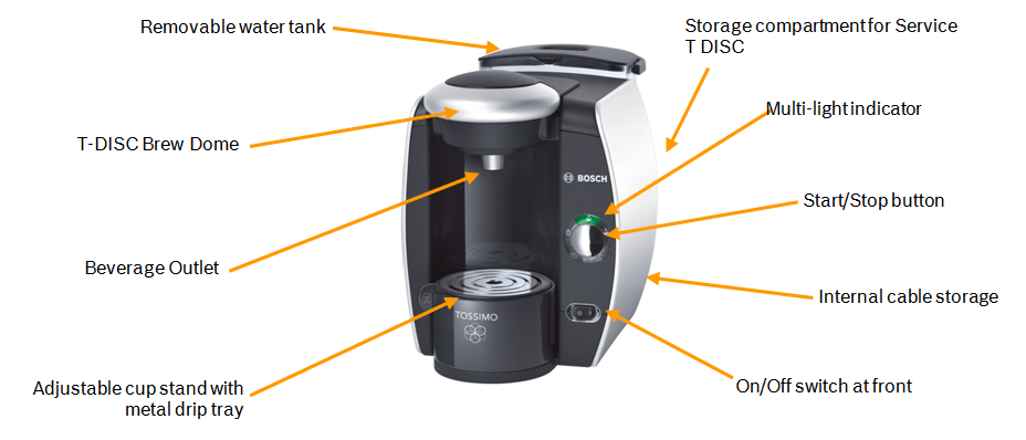 Bosch T40 TAS4011GB Coffee Maker, Silver: Amazon.co.uk: Kitchen & Home