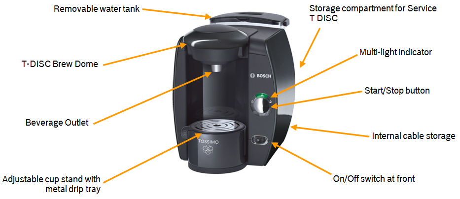 Tassimo Coffee Maker Does Red Light Mean : Bosch TAS4012GB Tassimo Coffee Maker, Black: Amazon.co.uk: Kitchen & Home
