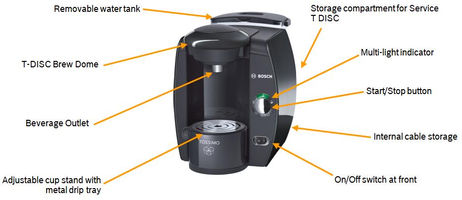 Bosch TAS4012GB Tassimo Coffee Maker, Black: Amazon.co.uk: Kitchen & Home