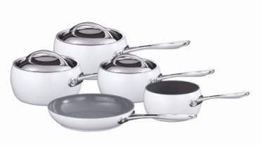 Russell Hobbs And Marco Pierre Pan Cookware Set White 5
