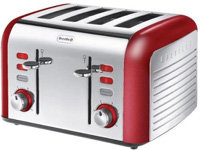Breville Opula Collection VTT332 Stainless Steel 4 Slice Toaster, Carnelian Red