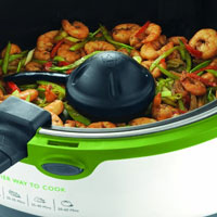 Breville Halo Health Fryer with prawns