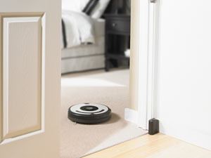 Virtual Walls use an infrared beam to block Roomba from entering off-limit areas