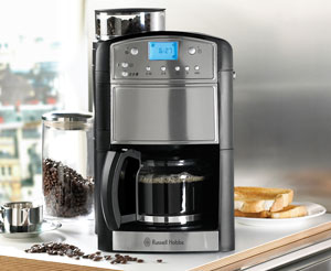 Russell Hobbs Platinum Grind And Brew Coffeemaker 14899 125 L Silver And Black
