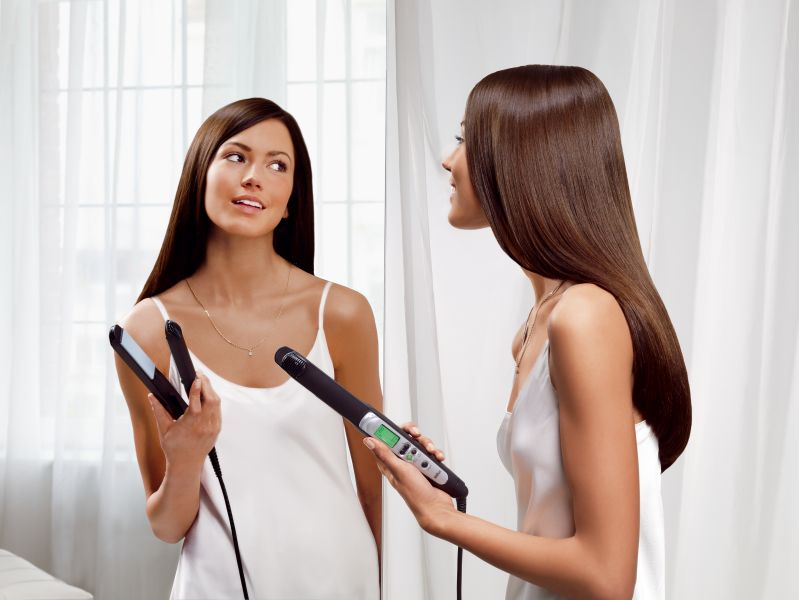 Image result for hair straighteners girl