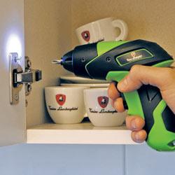 Using the Tonino Lamborghini 3.6 Volt Lithium-Ion Screwdriver's work light