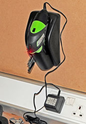 Charging the Tonino Lamborghini 3.6 Volt Lithium-Ion Screwdriver in its holster