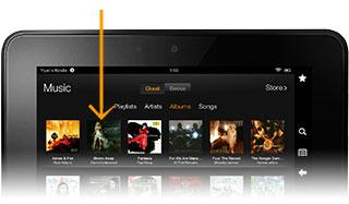Kindle Fire HD album view