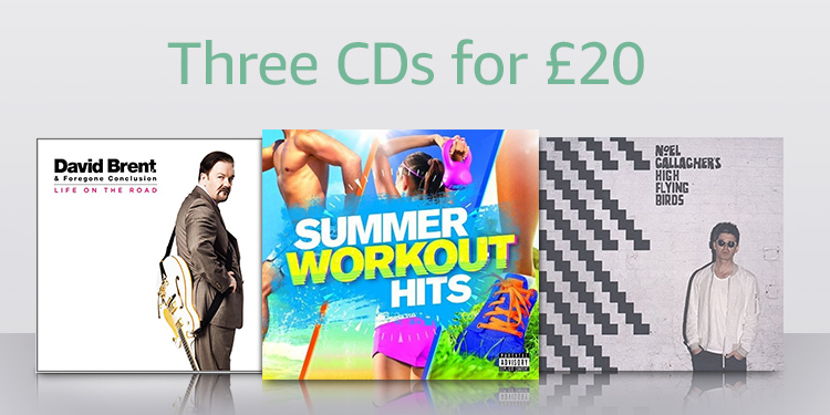 Three CDs for £20