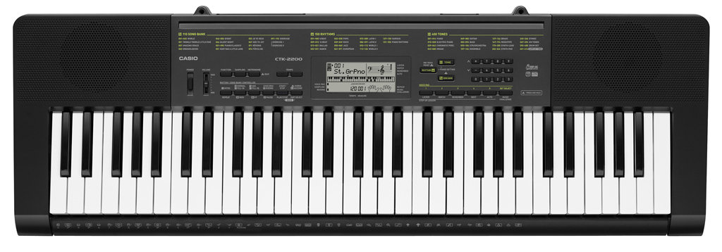 casio ctk 2200ad 61 key piano style keyboard with ac. Black Bedroom Furniture Sets. Home Design Ideas