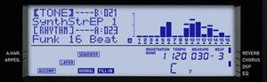 Casio CTK-6200 LCD display