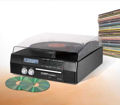 Ion Cd Direct Vinyl Record Player Usb Conversion Turntable