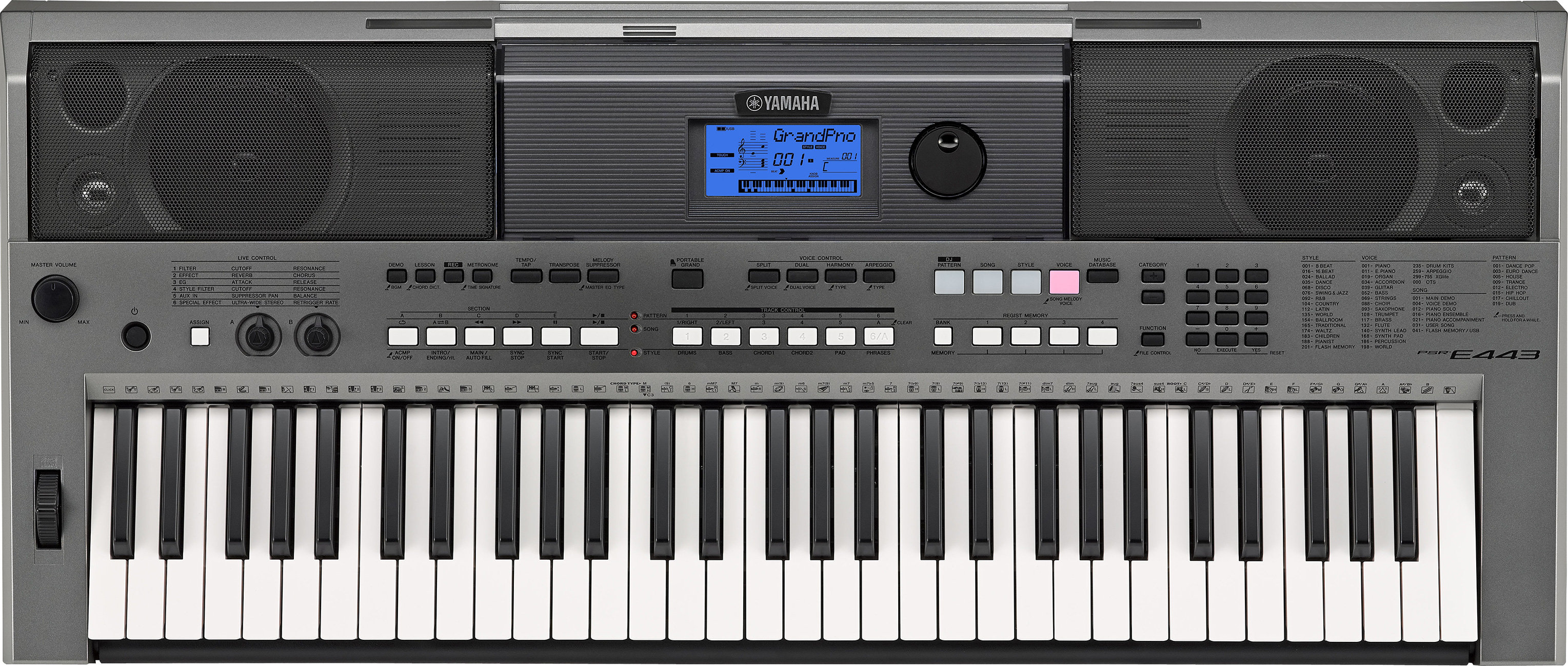 yamaha psr e433 digital keyboard musical. Black Bedroom Furniture Sets. Home Design Ideas