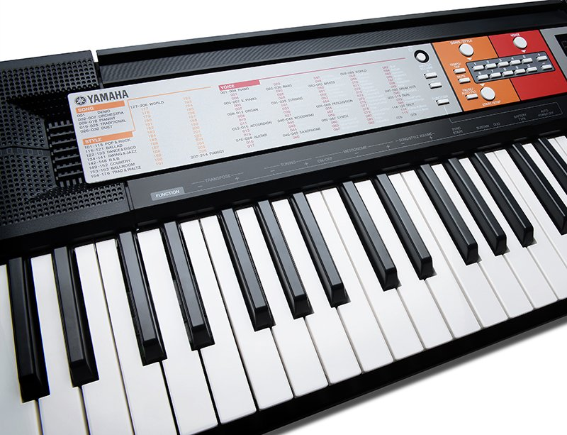 Yamaha psr f50 portable keyboard black for Yamaha learning keyboard