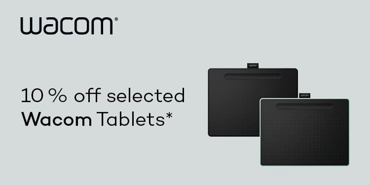 10% off Wacom graphics tablets and accessories