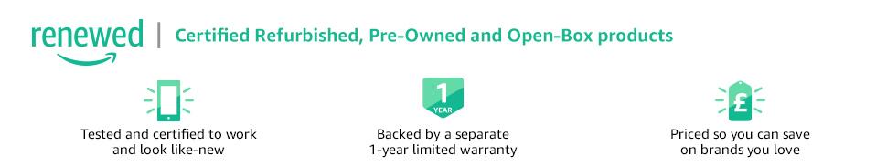 Certified Refurbished on Amazon Renewed