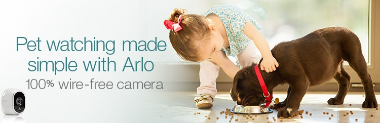 Pet watching made simple with Arlo. 100% wire-free camera