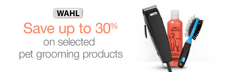 Save up to 30% on selected pet grooming products