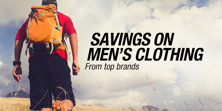 Savings on Men's Clothing