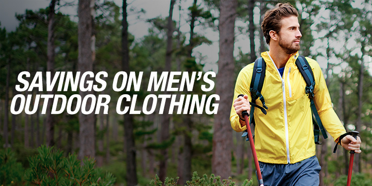 Savings on Men's Outdoor Clothing