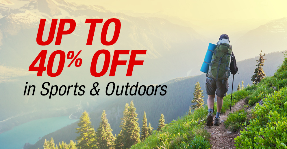 Up to 40% Off in Sports & Outdoors
