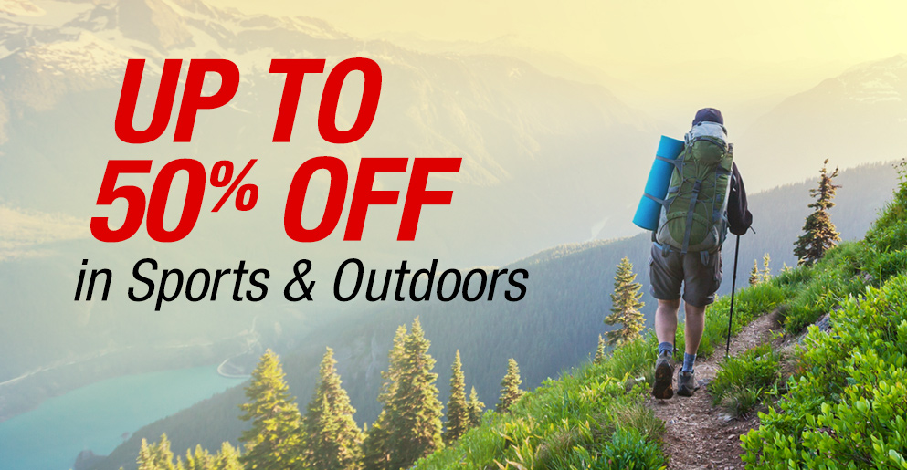 Up to 50% Off in Sports & Outdoors
