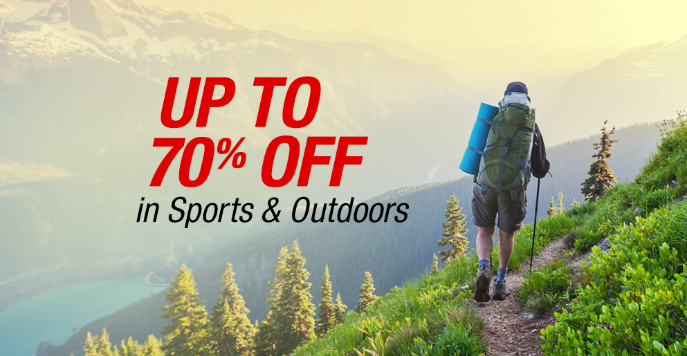 Up to 70% Off in Sports & Outdoors