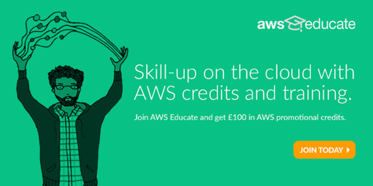 Skill-up on the cloud with AWS credits and training