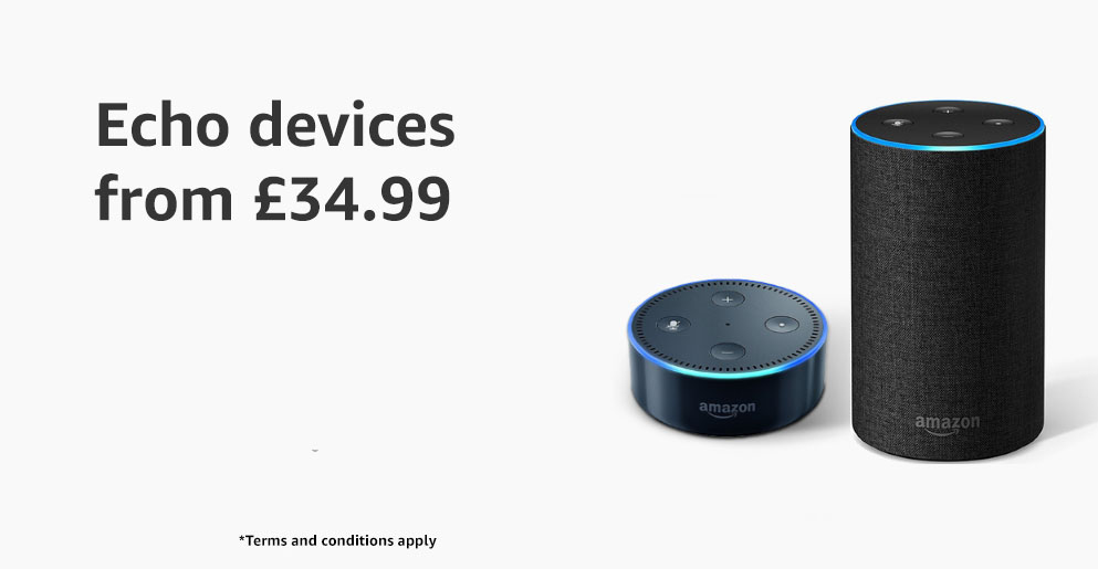 Up to 20% off Echo devices