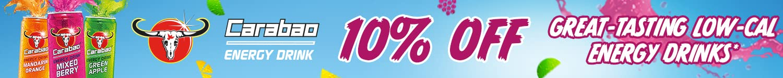 10% off Carabao energy drinks