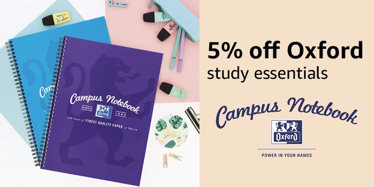 Save an extra 5% on Oxford Campus Products