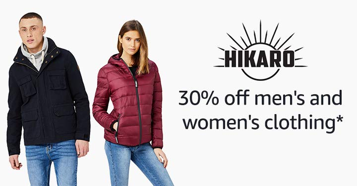 30% off selected Hikaro women and men's clothing