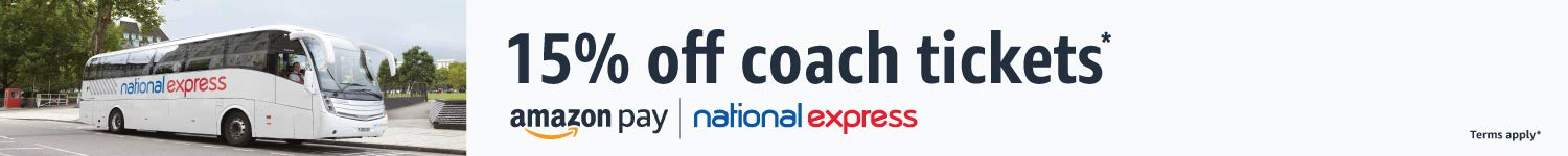 15% off National Express coach tickets
