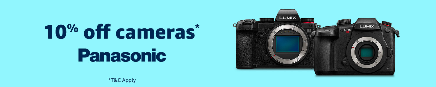 10% off Panasonic cameras and accessories