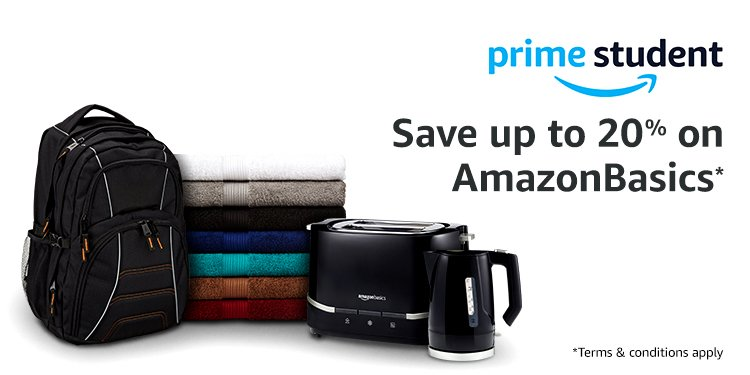 Save up to 20% on selected AmazonBasics products