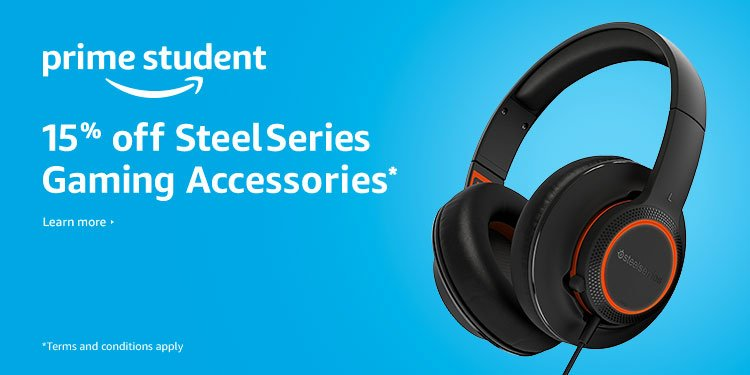 15% off selected SteelSeries gaming accessories