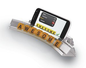 Tile racks have space for your smartphone to check your words