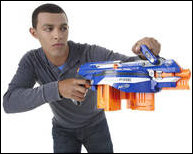 Take your N-Strike battling to the next level with the highest capacity Nerf blaster ever