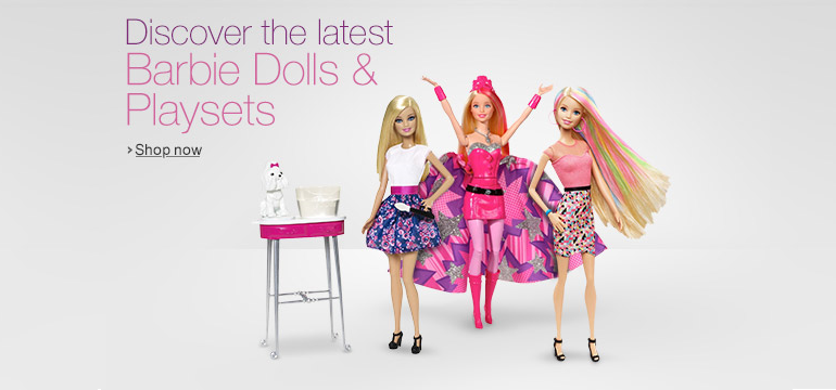 Latest Barbie Dolls and Playsets