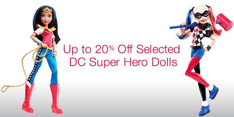 Up to 20% Off Selected DC Super Hero Dolls