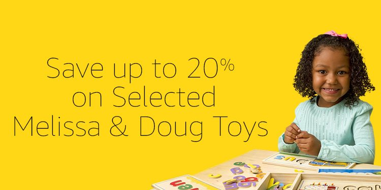 Save up to 20% on Selected Melissa & Doug Toys