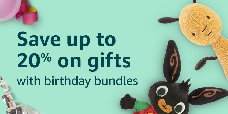 Save up to 25% on gifts with birthday bundles