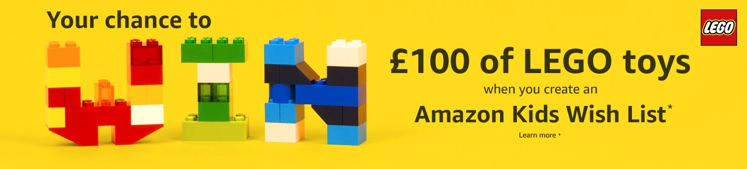Your chance to win £100 of LEGO when you create an Amazon Kids Wish List